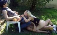 Video porno Ingrid Mère au foyer Baisée dans le Jardin